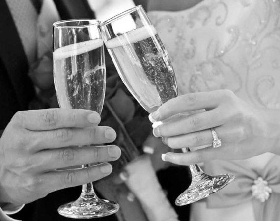 Metropole Hotel Wedding Champagne Glasses